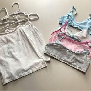 Hanes Accessories - Lot of Girls Size Small Underwear Bra Camisole